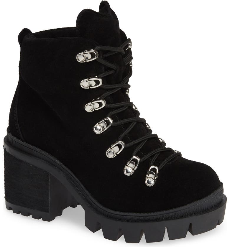 JEFFREY CAMPBELL Golan Boot, Main, color, BLACK OILED SUEDE