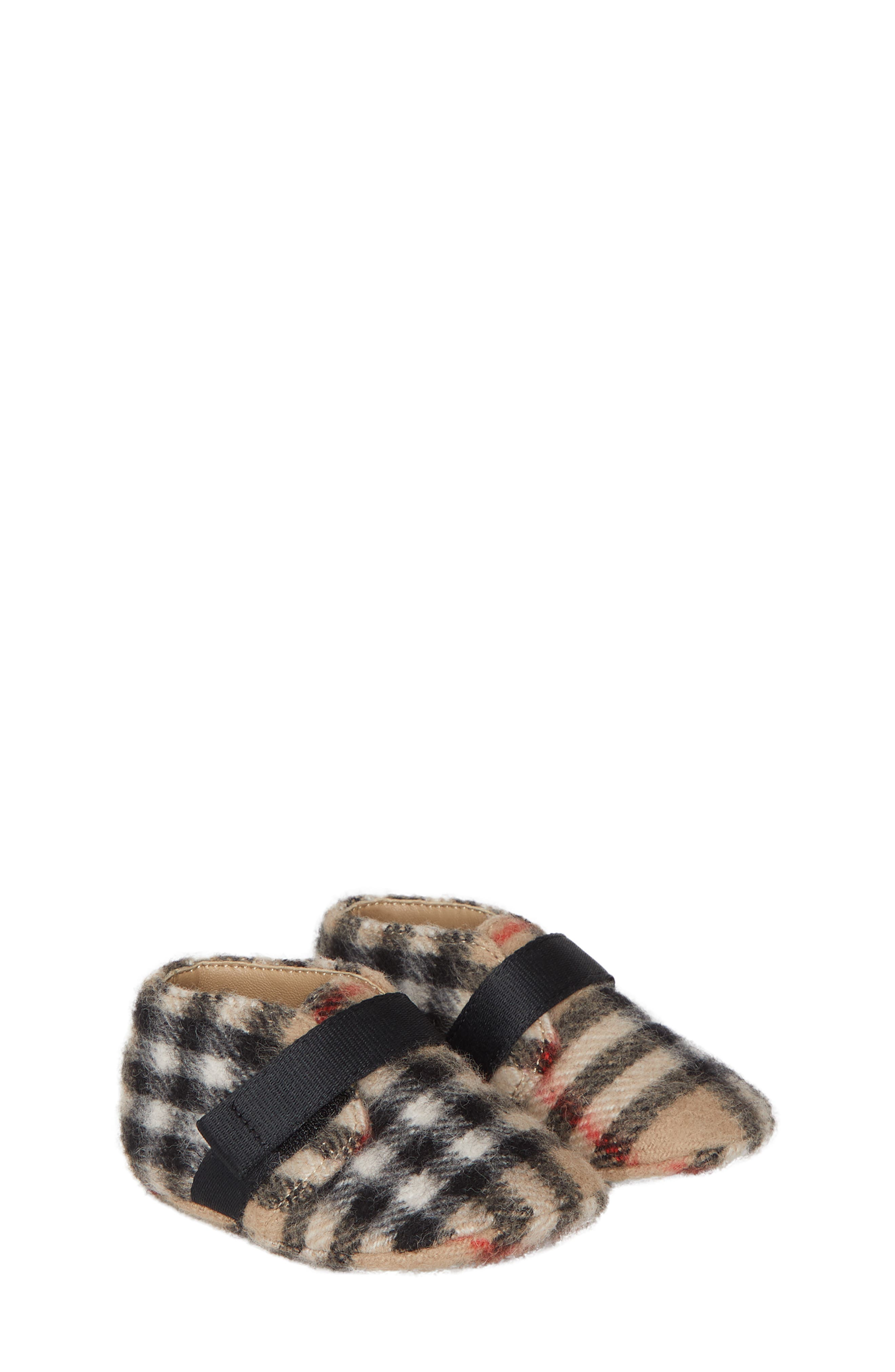 Burberry Charlton Vintage Check Wool Crib Shoe