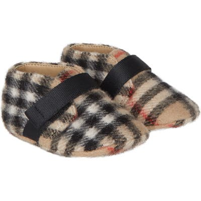 Burberry Charlton Vintage Check Wool Crib Shoe