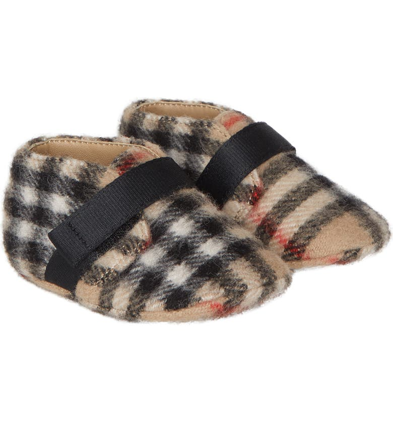 BURBERRY Charlton Vintage Check Wool Crib Shoe, Main, color, ARCHIVE BEIGE