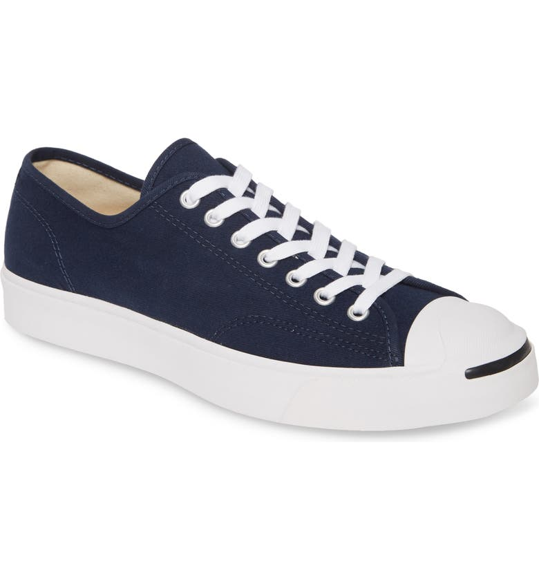CONVERSE Jack Purcell Ox Sneaker, Main, color, OBSIDIAN CANVAS