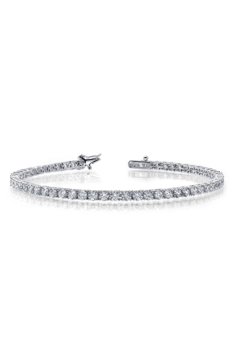 LAFONN Simulated Diamond Bracelet, Main, color, SILVER/ CLEAR