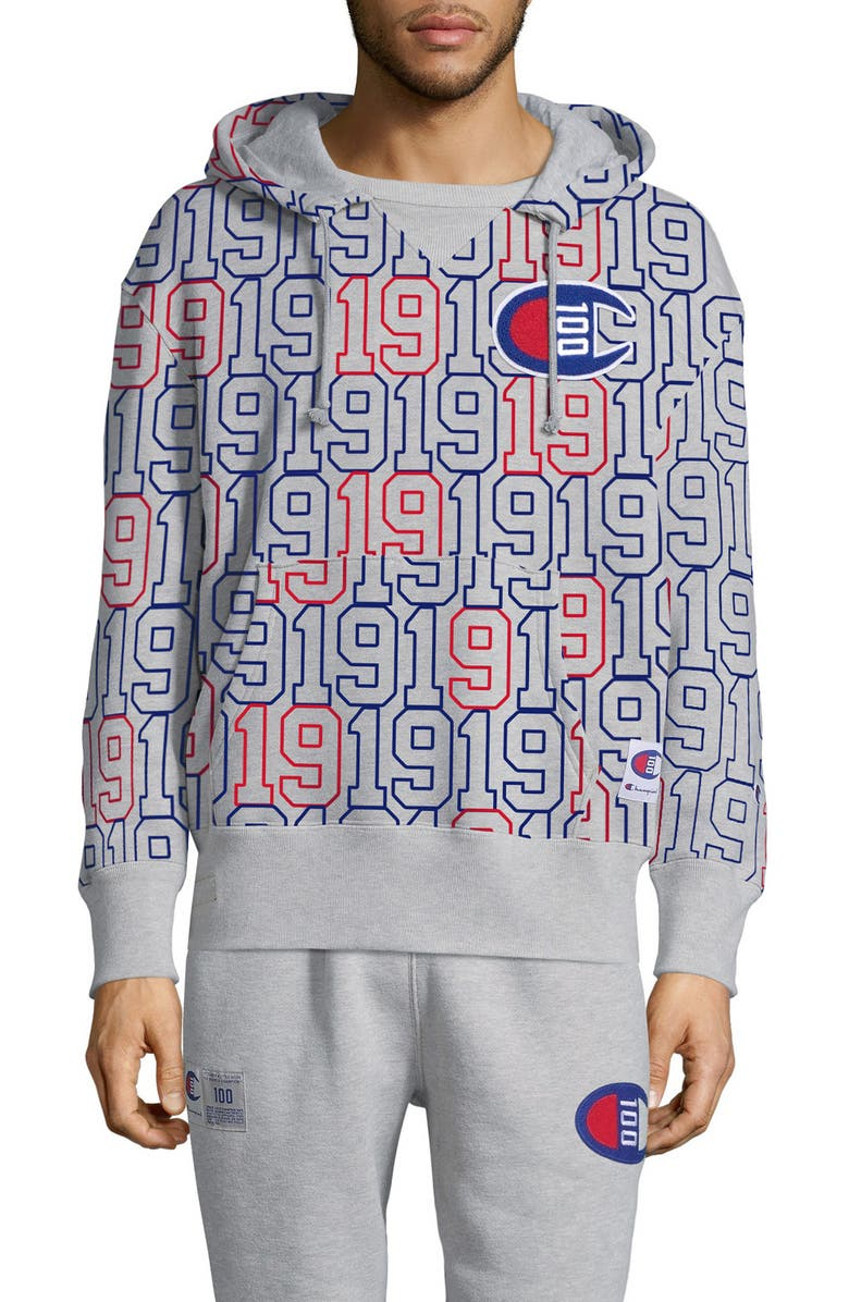 Champion Century Collection Stacked Hooded Sweatshirt