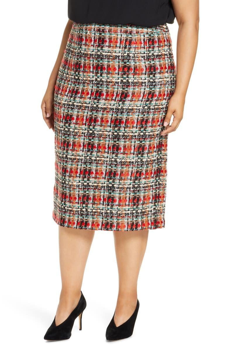 HALOGEN<SUP>®</SUP> Tweed Pencil Skirt, Main, color, 001