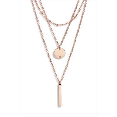 Knotty Triple Layered Pendant Necklace