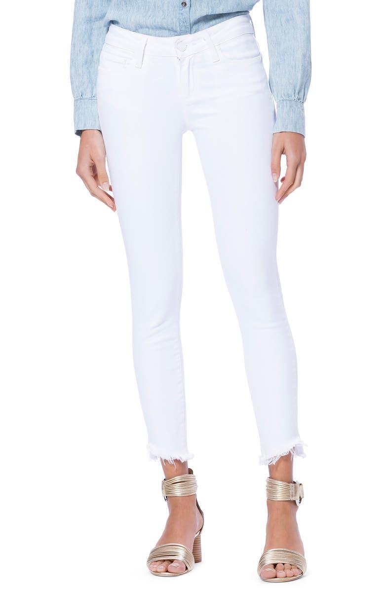 8639cececca PAIGE Verdugo Slanted Crop Skinny Jeans (Crisp White) | Nordstrom