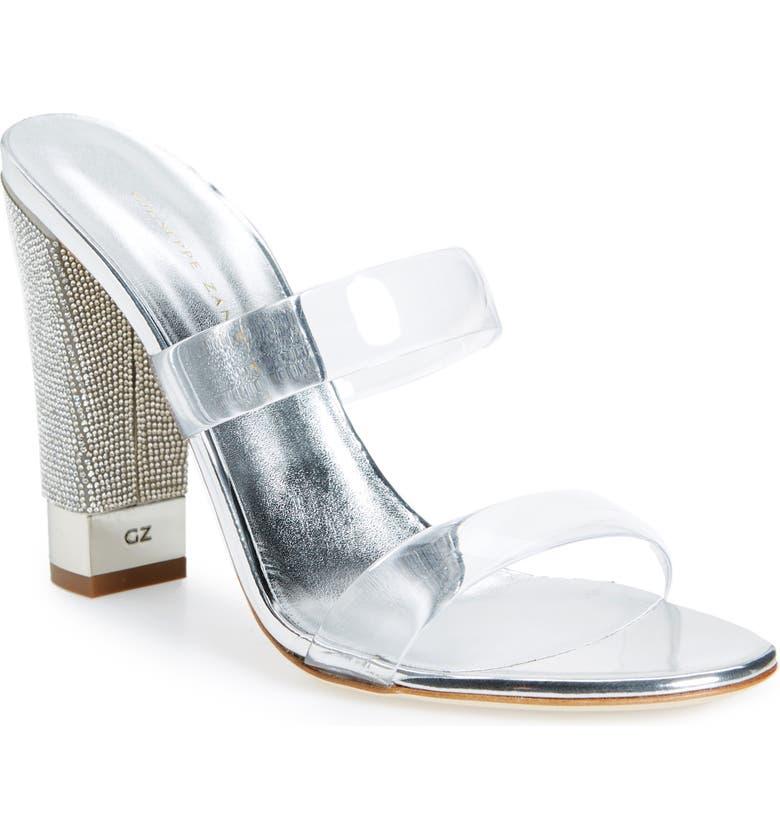 GIUSEPPE ZANOTTI Jelly Crystal Block Heel Sandal, Main, color, 041