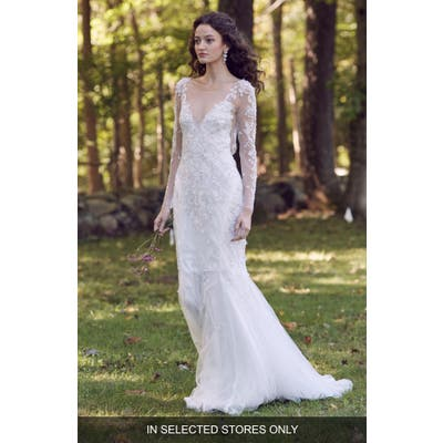 Marchesa Notte Parker Lace & Tulle Wedding Dress, Size IN STORE ONLY - Ivory