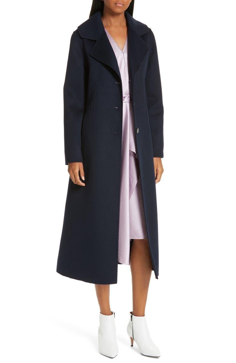 LEWIT Double Face Wool & Cashmere Coat, Main, color, 401