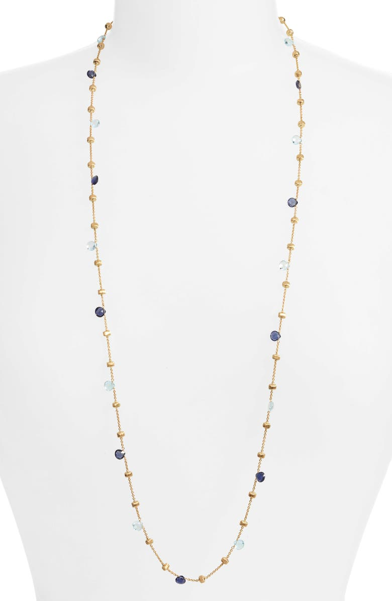 MARCO BICEGO Africa Semiprecious Stone Long Strand, Main, color, GOLD