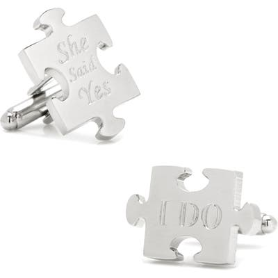 Cufflinks, Inc. Wedding Puzzle Pieces Cuff Links