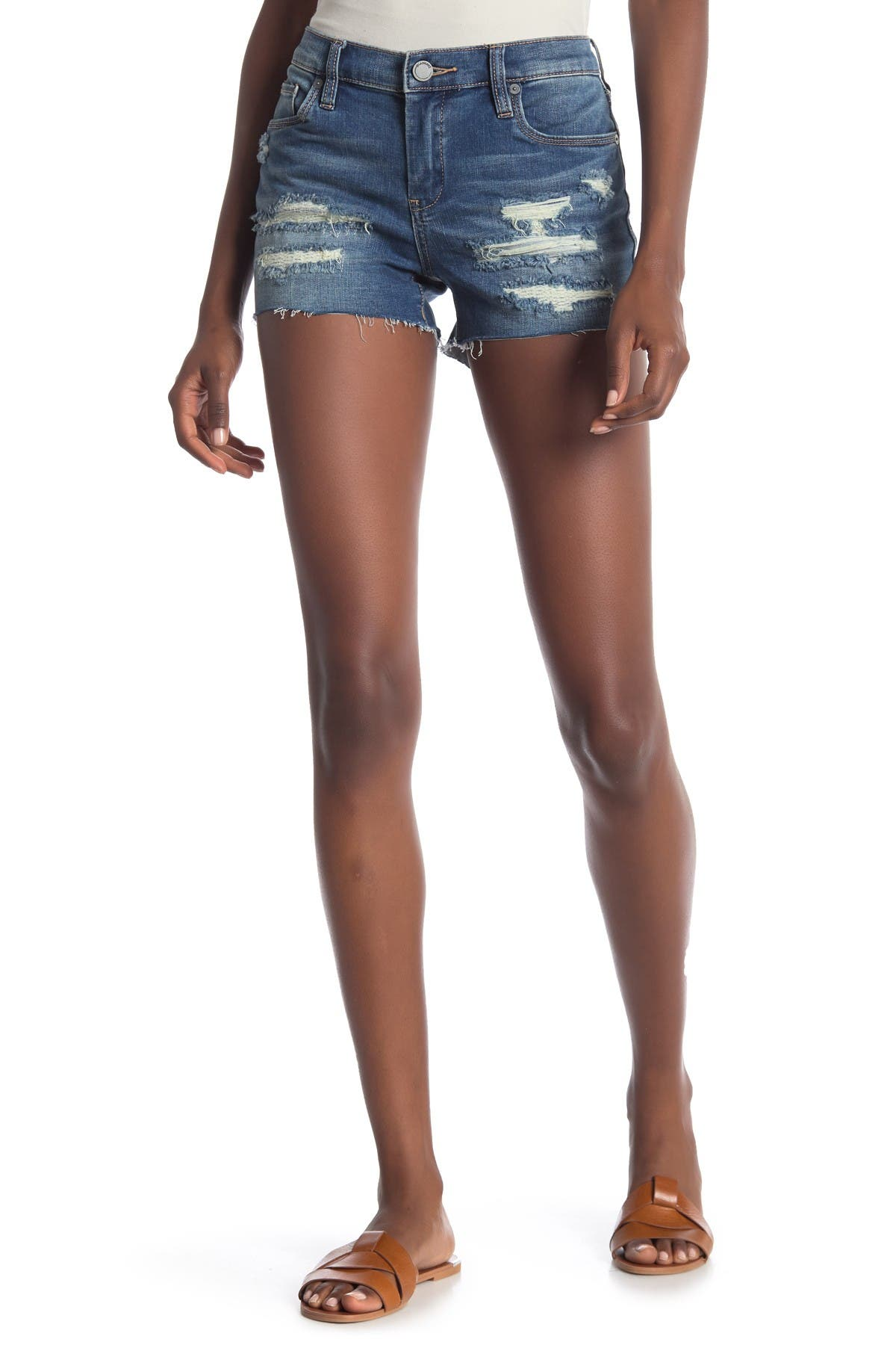 Image of BLANKNYC Denim Rip and Repair Denim Shorts