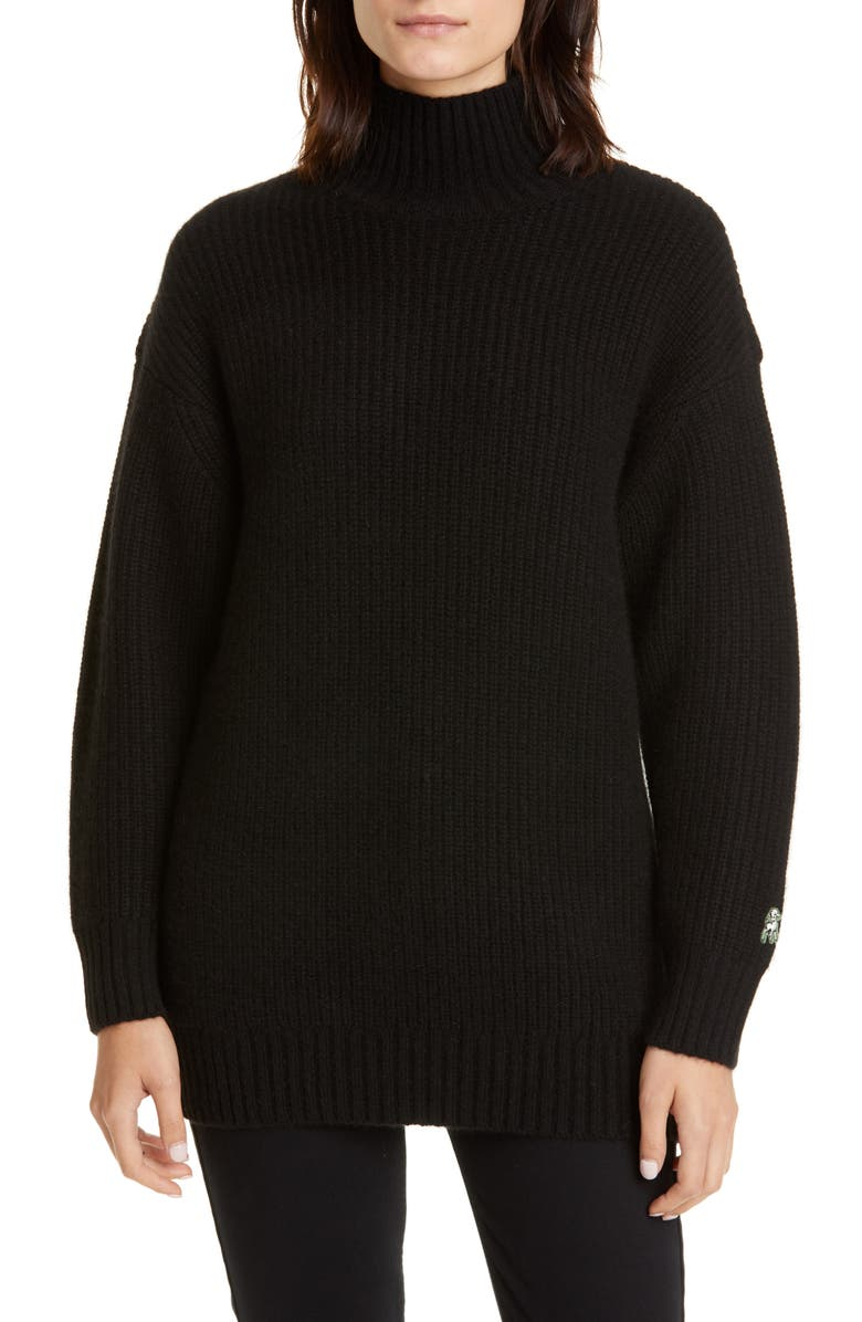 UNDERCOVER the Shepherd Cashmere & Wool Sweater, Main, color, D BLACK