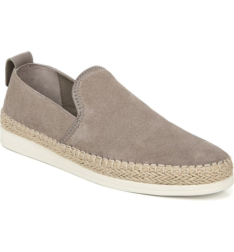 VINCE Silas Slip-On Espadrille Sneaker, Main, color, LIGHT WOODSMOKE