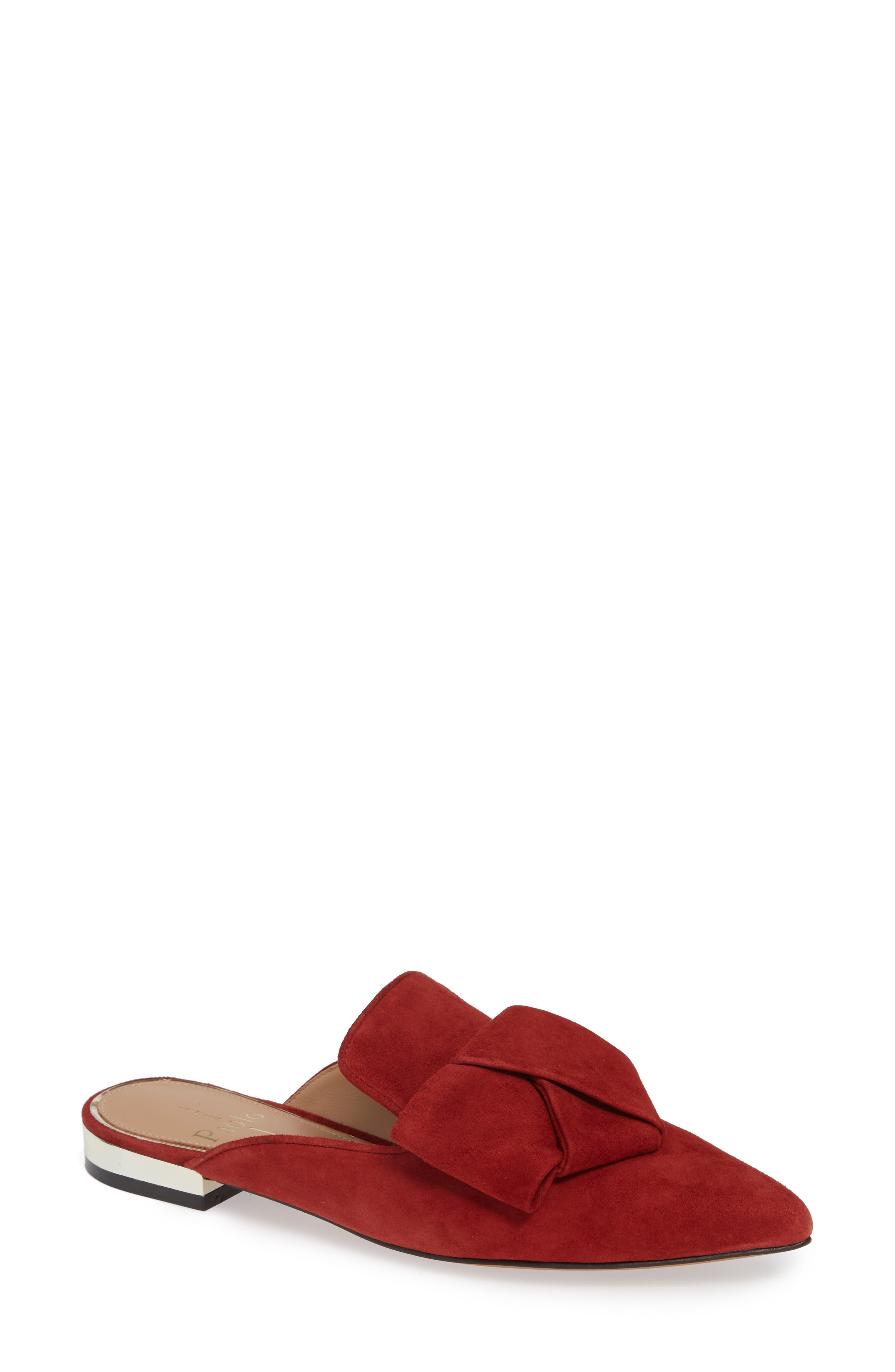 Linea Paolo Anya Bow Mule, Red