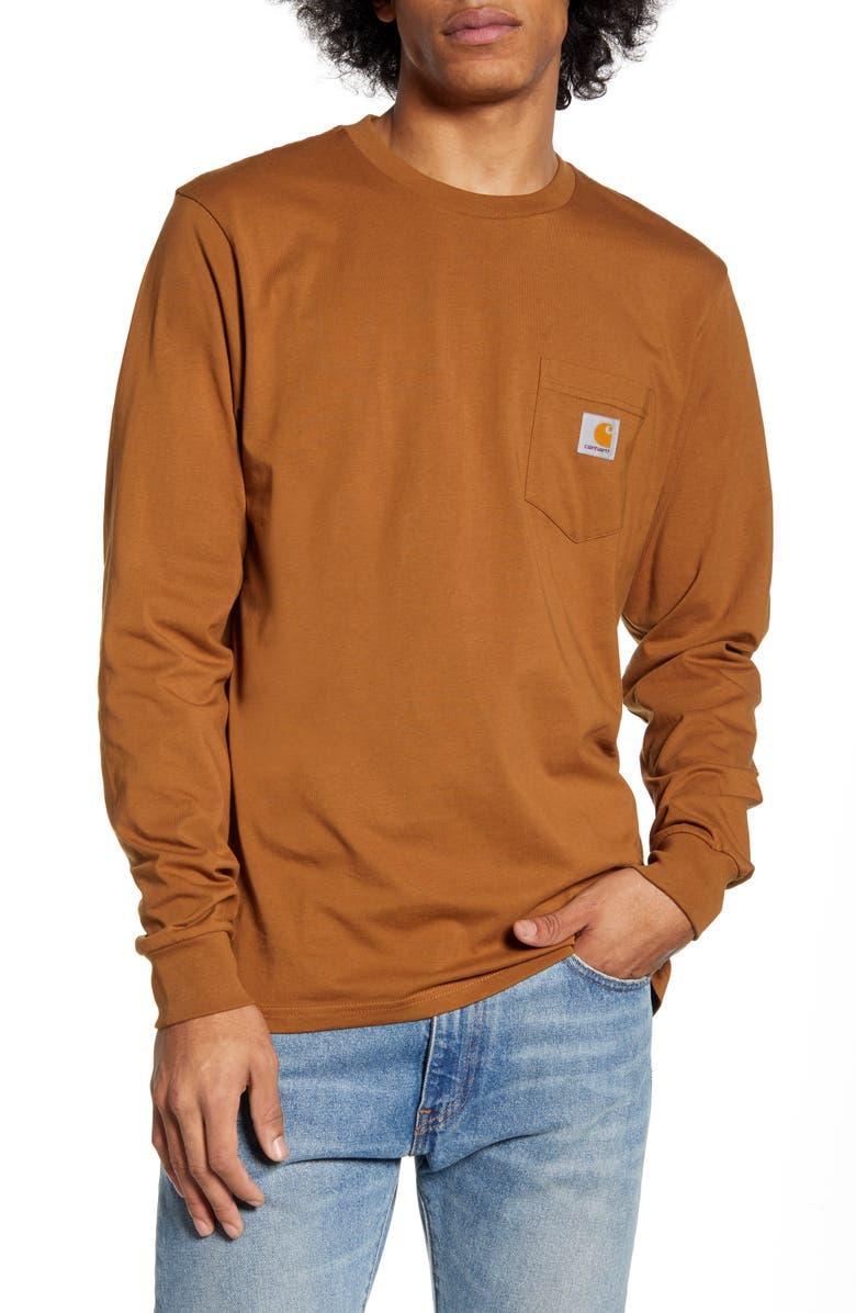 CARHARTT WORK IN PROGRESS Pocket T-Shirt, Main, color, HAMILTON BROWN