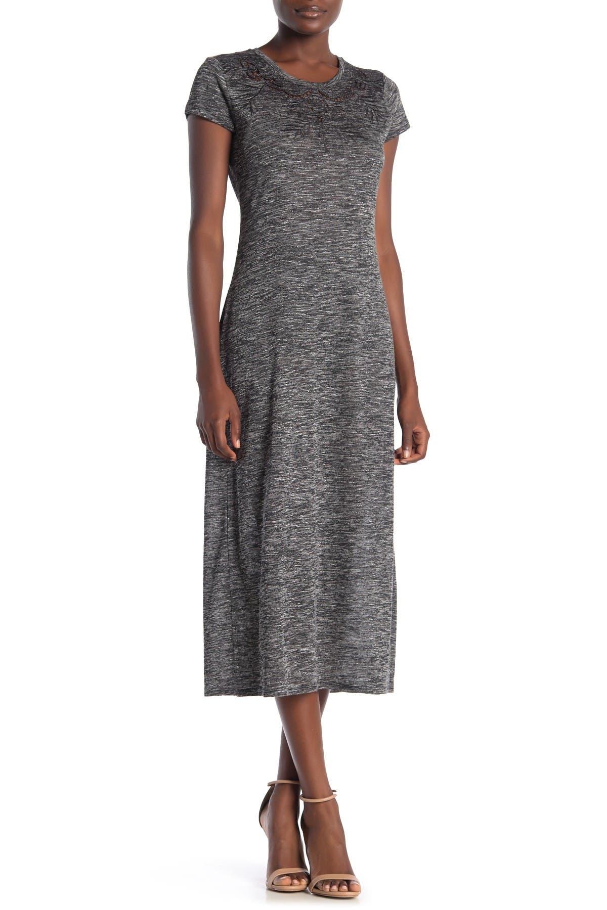 Image of Love Stitch Short Sleeve Midi Dress