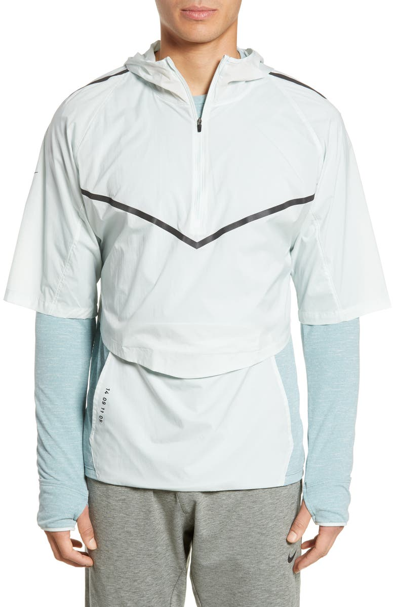 NIKE Therma Sphere Tech Pack Running Top, Main, color, BARELY GREY/AVIATOR GREY/BLACK