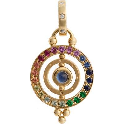 Temple St. Clair Piccolo Tolomeo Diamond & Sapphire Pendant