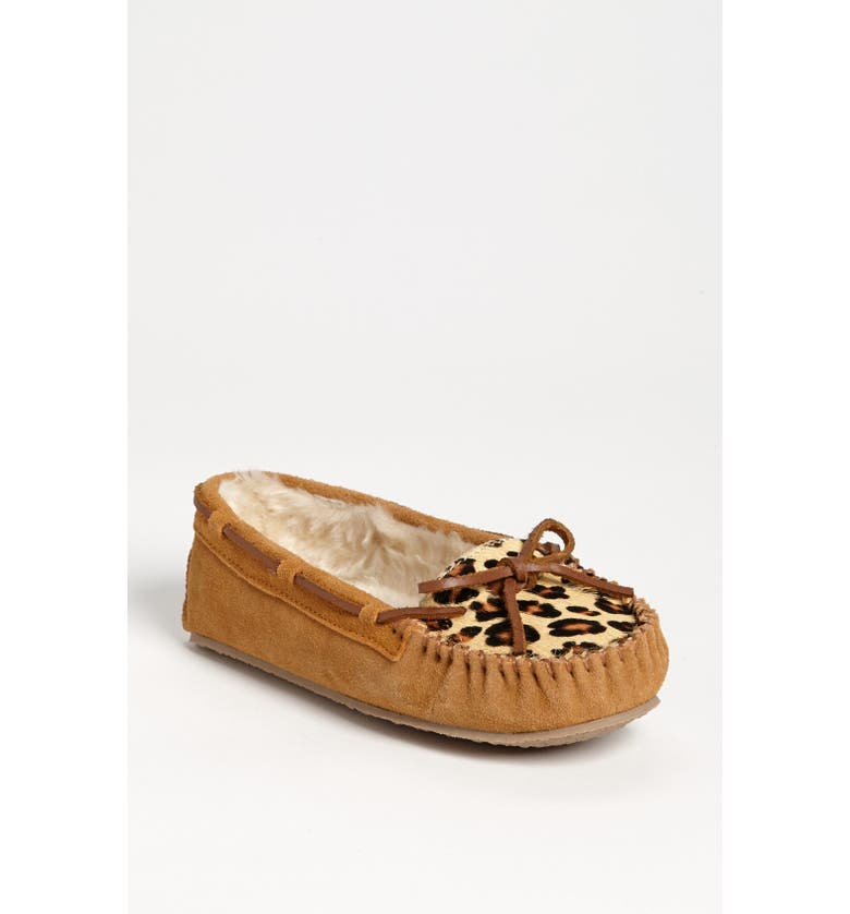 MINNETONKA 'Cally' Slipper, Main, color, CINNAMON