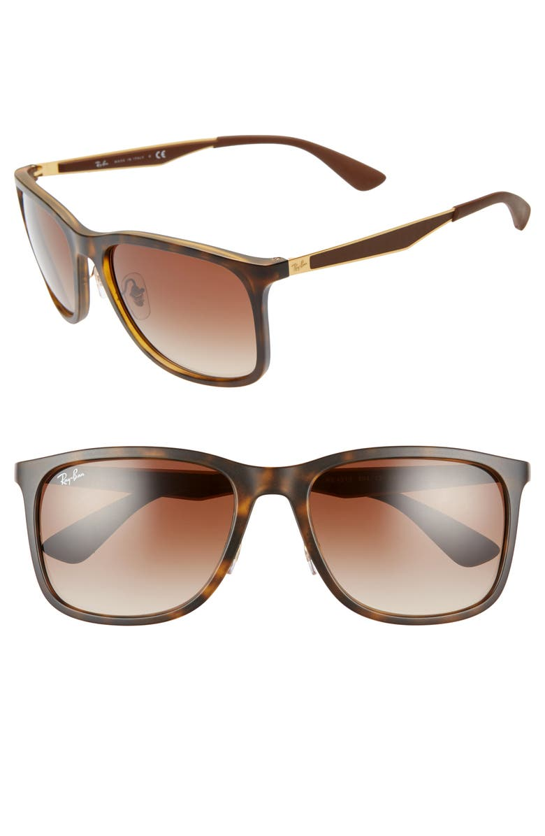RAY-BAN 58mm Square Sunglasses, Main, color, MATTE HAVANA