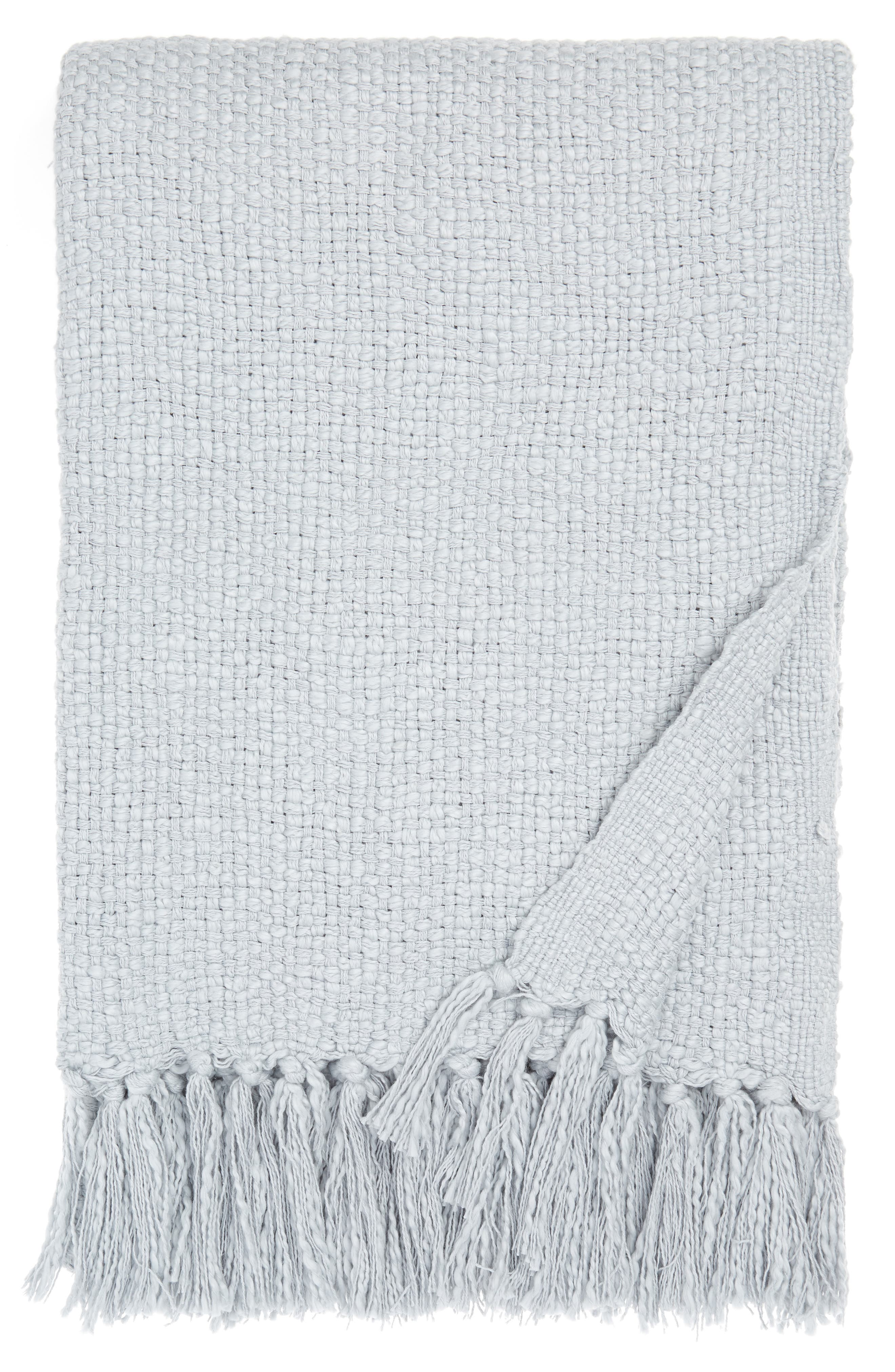 Get ready for good reads and long naps under this blissfully cozy throw woven from thick cotton yarns and edged with lush fringe. Style Name: Nordstrom Woven Cotton Throw Blanket. Style Number: 5929994. Available in stores.