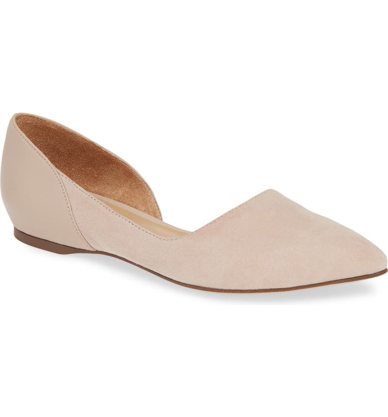 NATURALIZER Sammi d'Orsay Flat, Main, color, TAUPE SUEDE