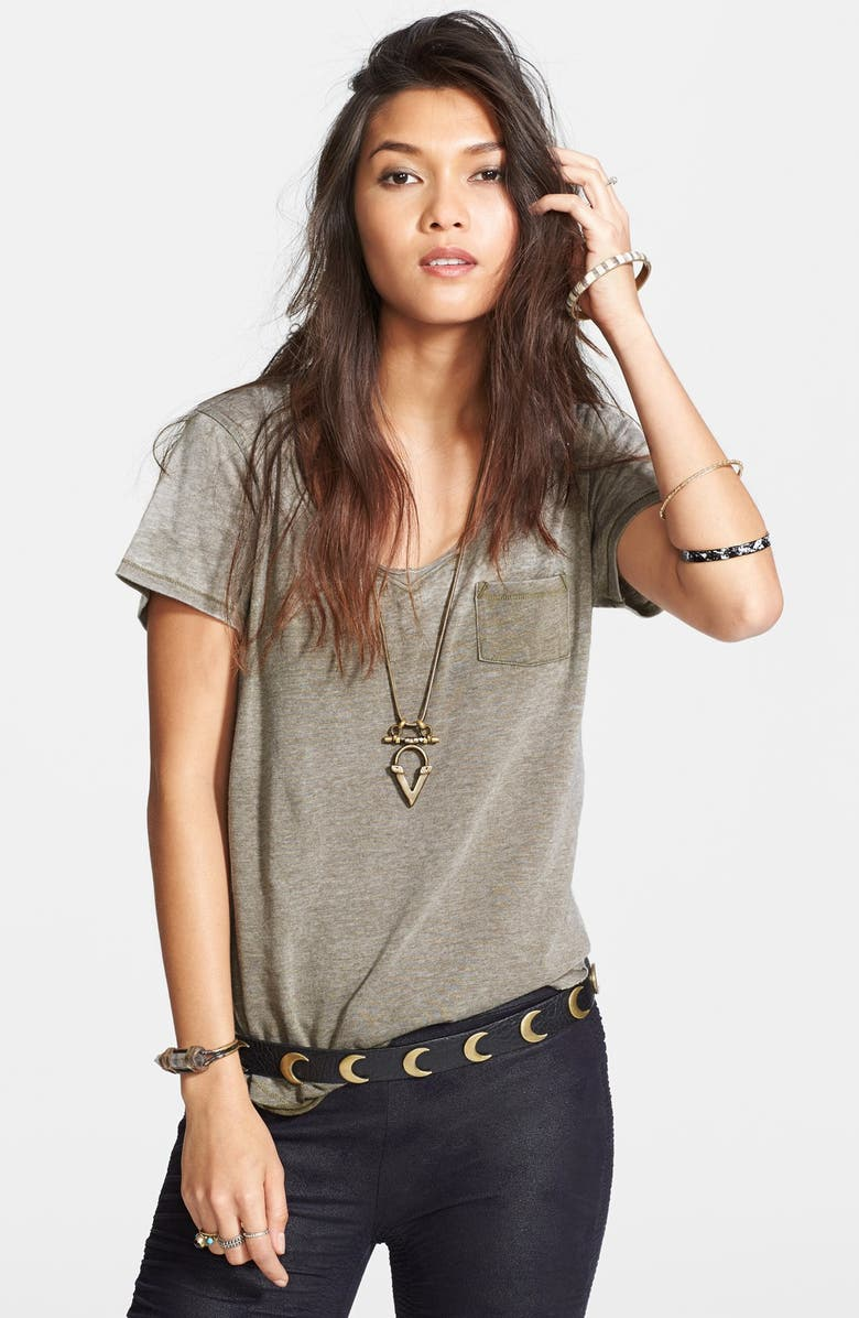 FREE PEOPLE 'Wildfire' V-Neck Tee, Main, color, 020