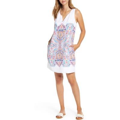 Tommy Bahama Brilliant Bazaar Linen Shift Dress, White