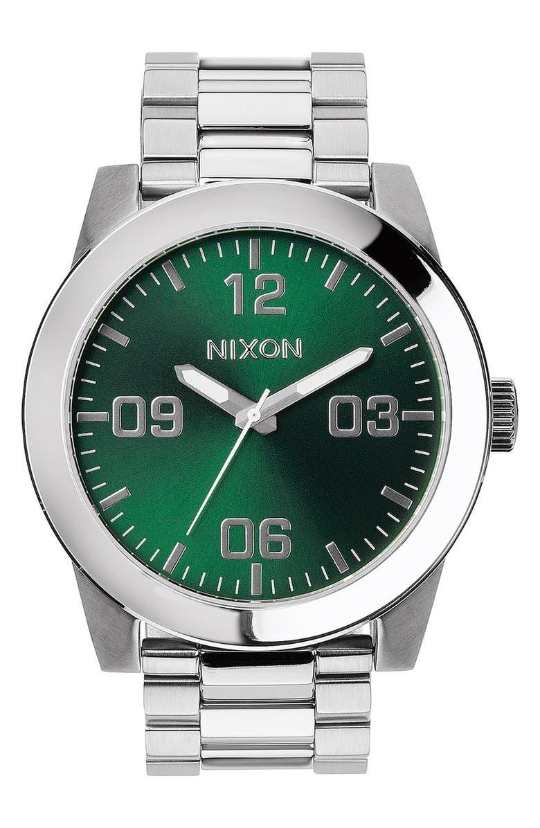 NIXON 'The Corporal' Bracelet Watch, 48mm, Main, color, 043