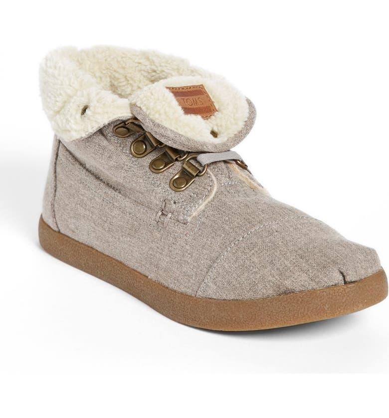 TOMS 'High Botas' Fleece Boot, Main, color, 020