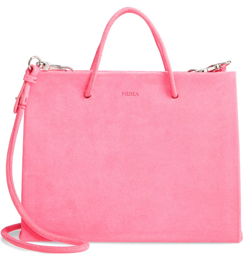 MEDEA Mini Prima Hanna Calfskin Suede Bag, Main, color, 650