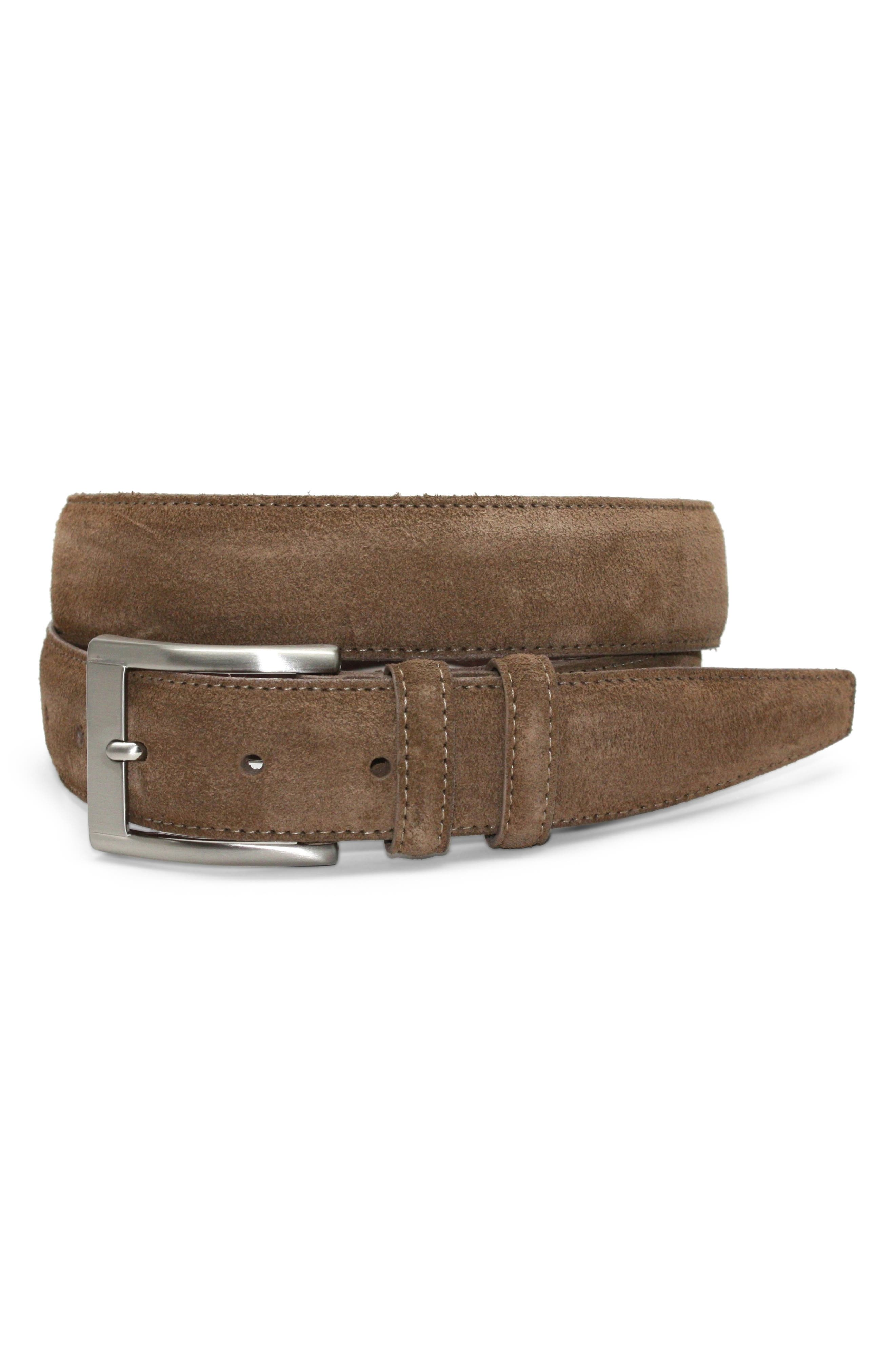 ,                             Suede Belt,                             Alternate thumbnail 2, color,                             WHISKEY