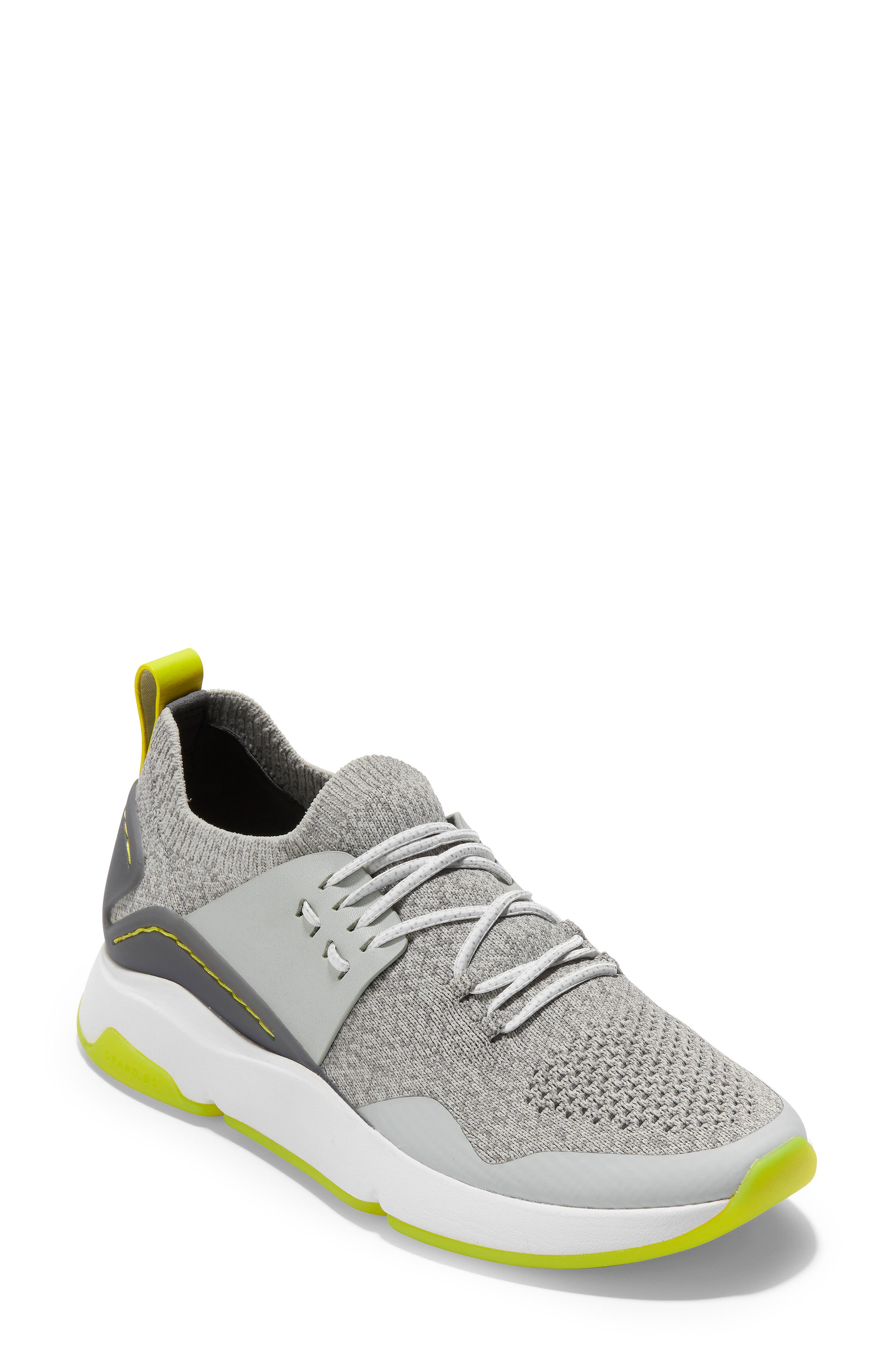 ZeroGrand All Day Trainer Sneaker, Main, color, GREY/IRONSTONE LEATHER