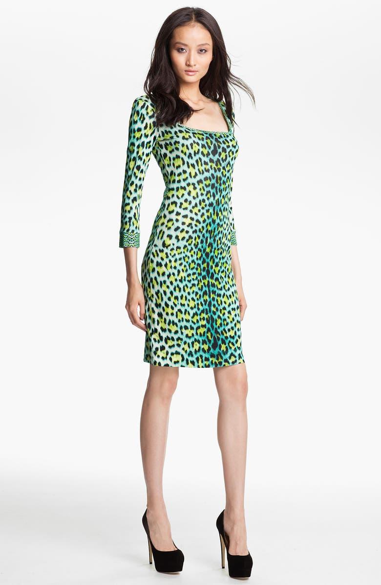 66325aa954bc7 Just Cavalli Leopard Print Jersey Dress | Nordstrom