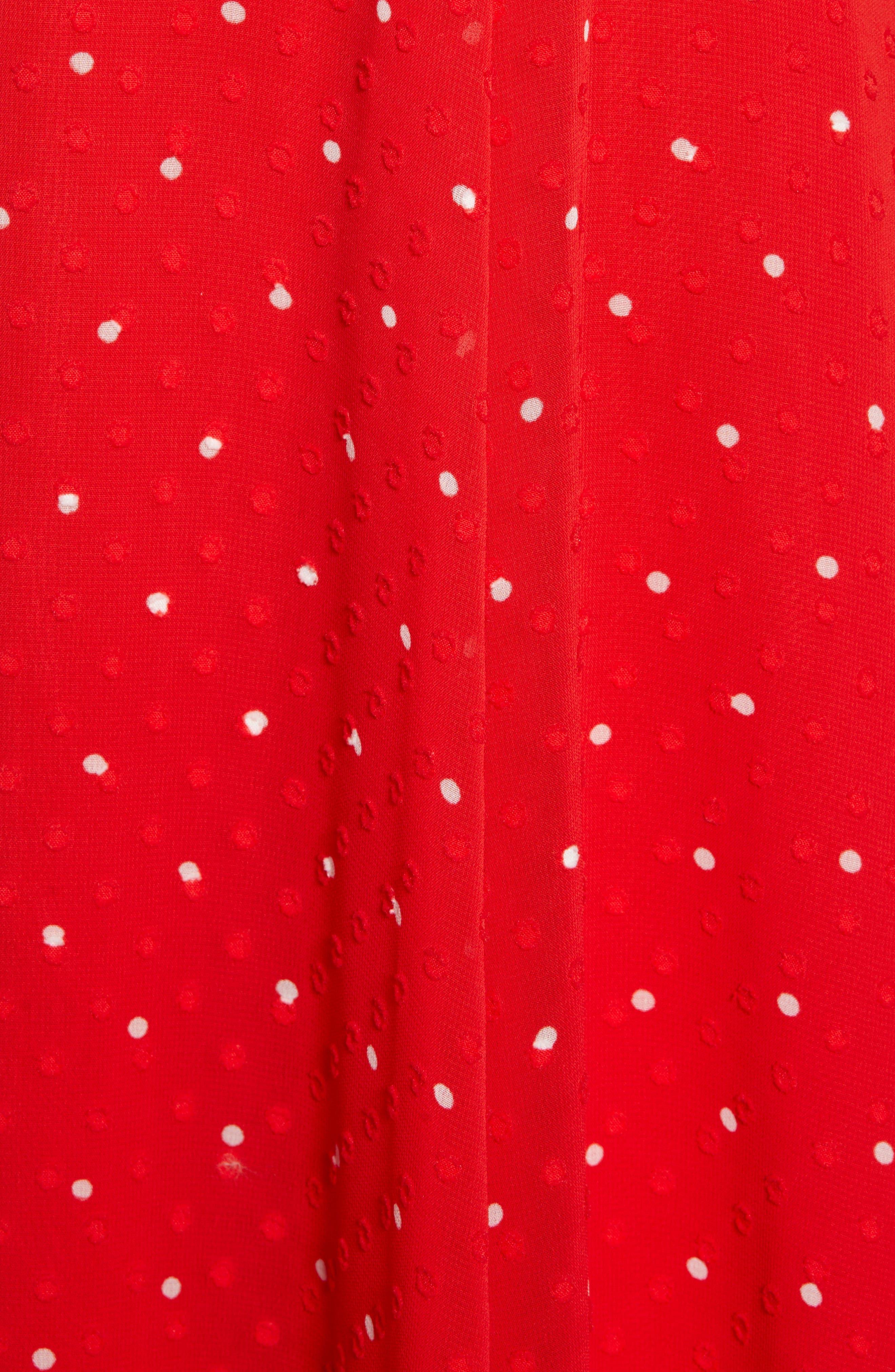 ,                             Chiffon A-Line Dress,                             Alternate thumbnail 6, color,                             RED CHINOISE DOT