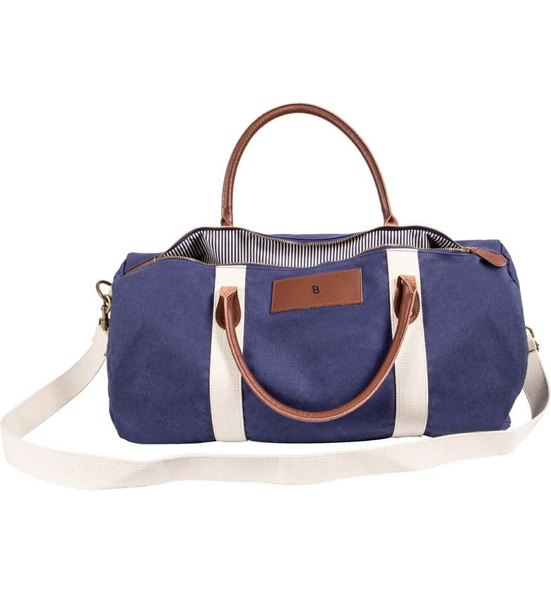 CATHY'S CONCEPTS Cathys Concepts Monogram Duffle Bag, Main, color, NAVY-B