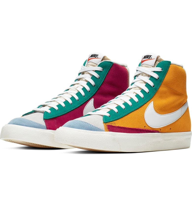 NIKE Blazer Mid '77 Vintage WE Suede Sneaker, Main, color, NOBLE RED/ KINETIC GREEN