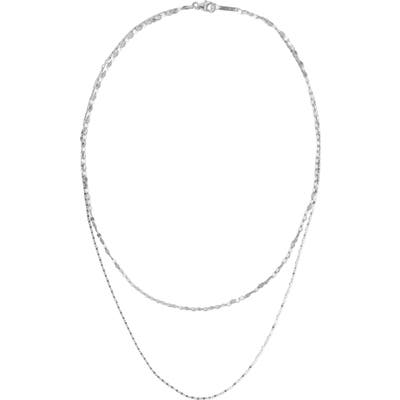 Lana Jewelry Square Nude Remix Double Layer Necklace
