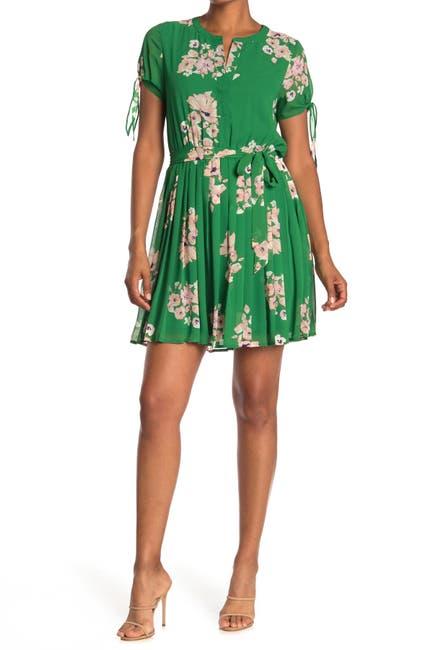 Image of DR2 by Daniel Rainn Short Sleeve Pleated Skirt Dress
