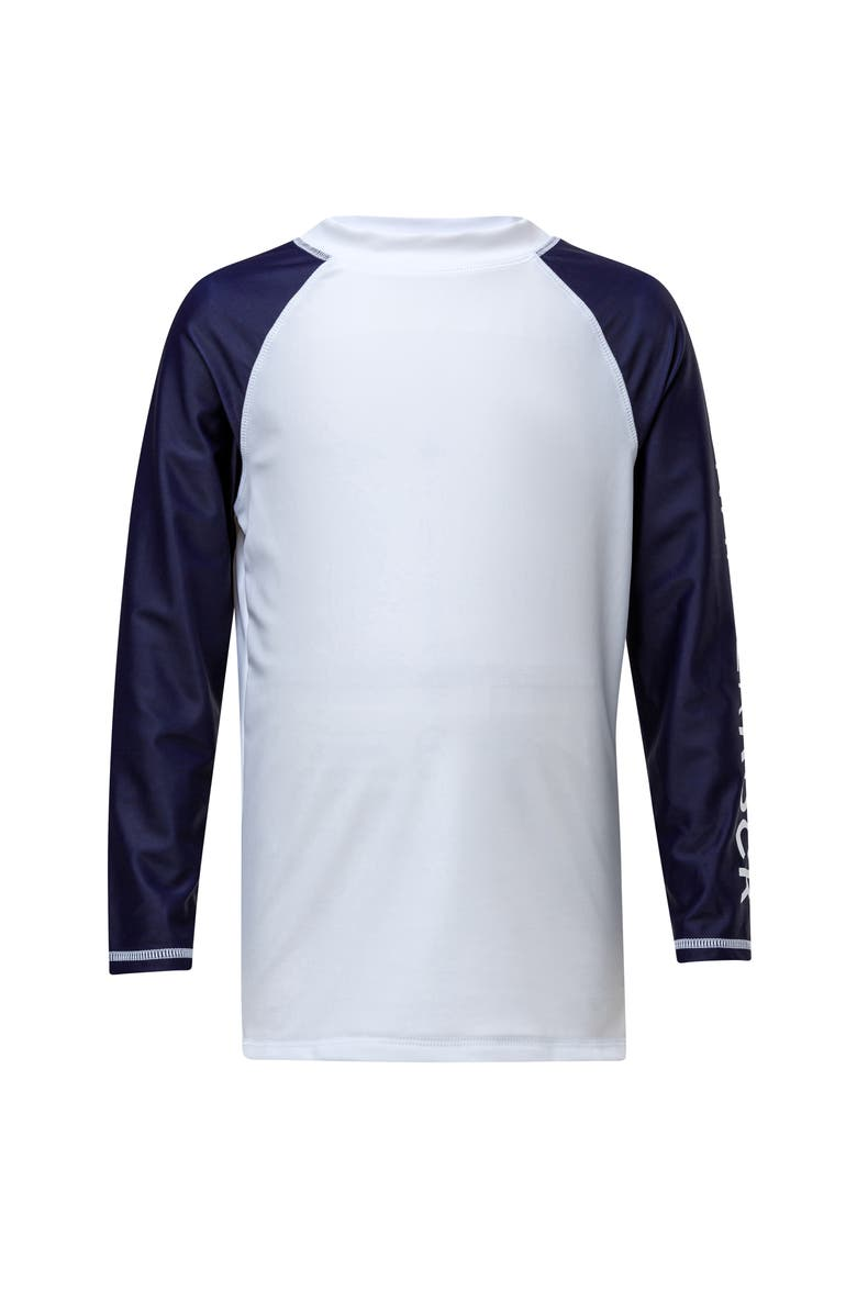 SNAPPER ROCK Colorblock Rashguard, Main, color, WHITE / NAVY