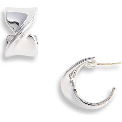 St. John Collection Twist Metal Hoop Earrings