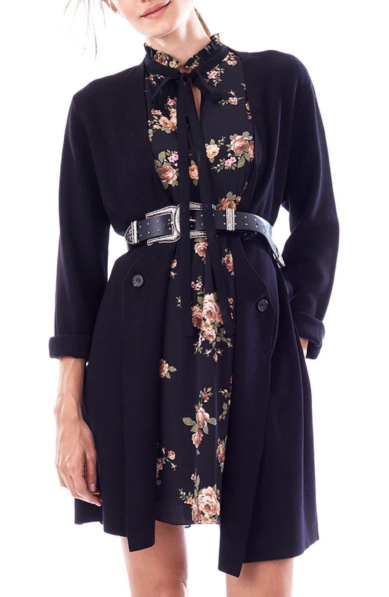LOYAL HANA Olivia Maternity Sweater Jacket, Main, color, BLACK