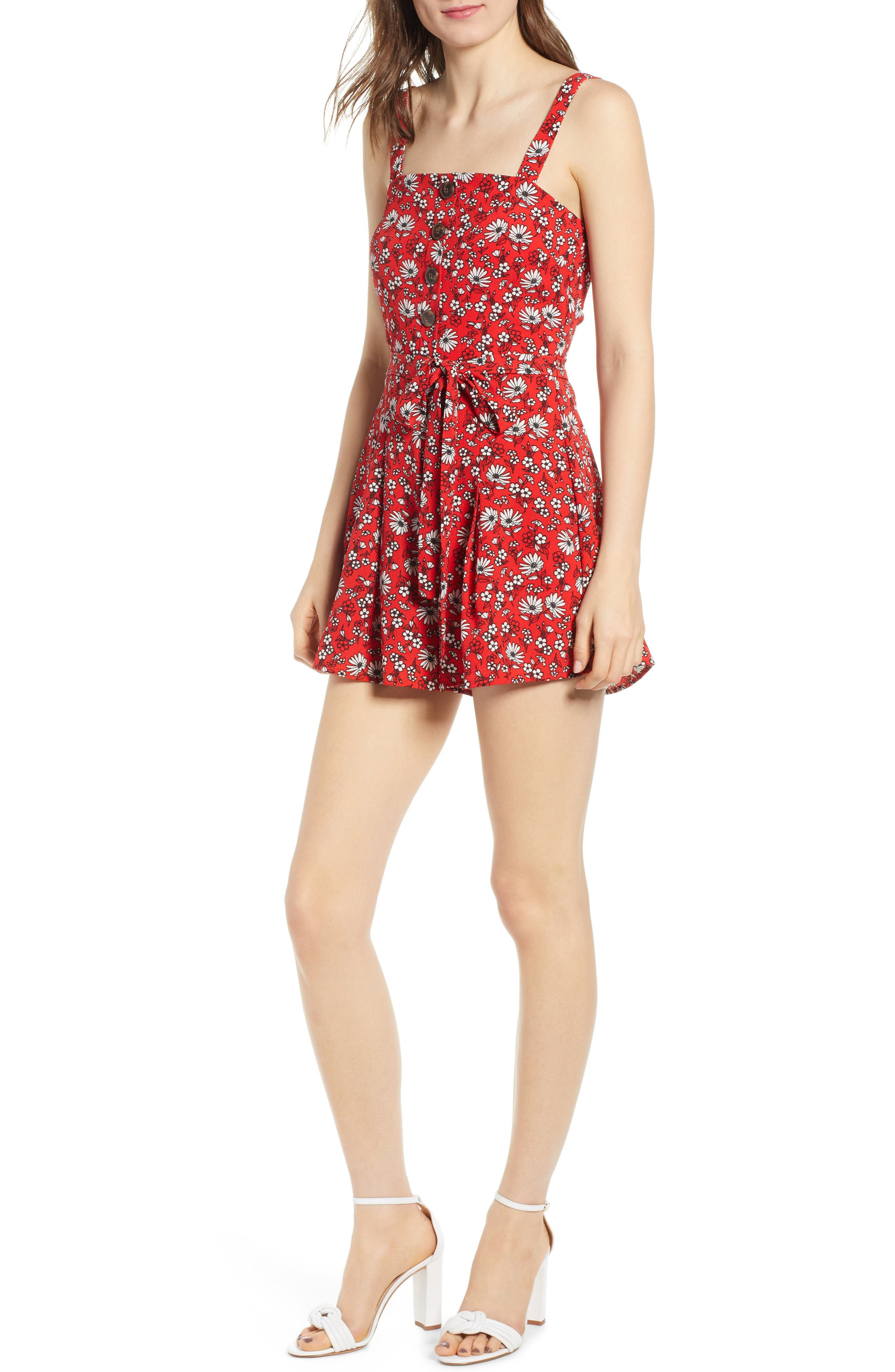Image of ROW A Button Front Romper