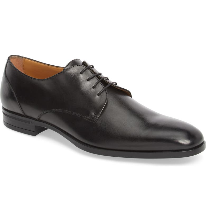 BOSS Portland Plain Toe Derby, Main, color, BLACK LEATHER