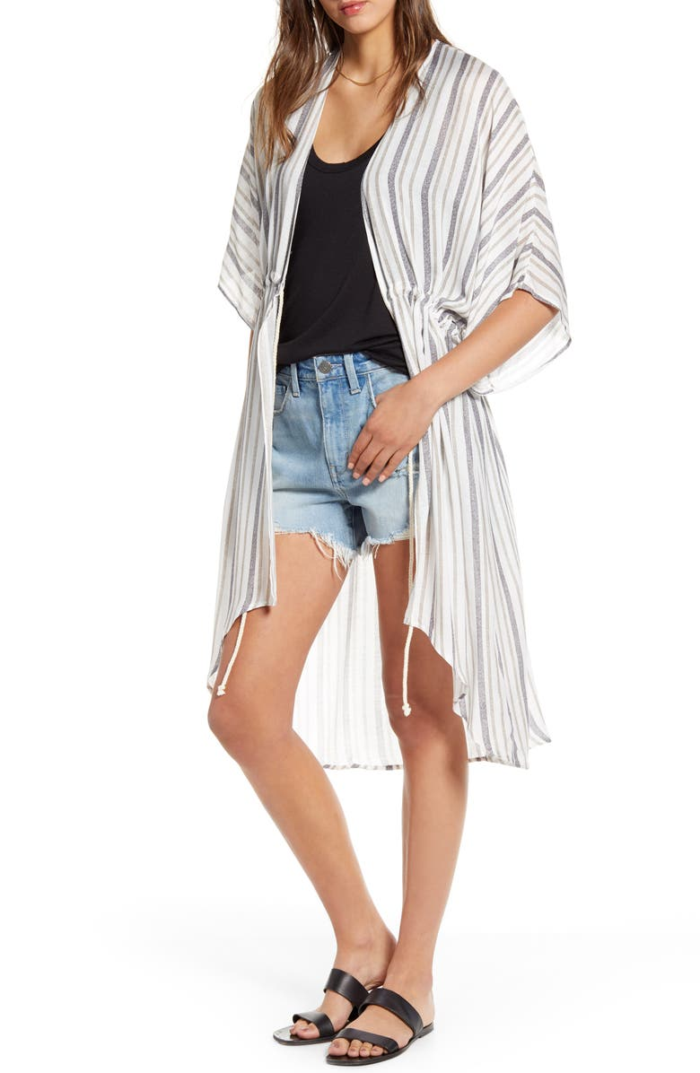 TREASURE & BOND High/Low Stripe Wrap, Main, color, WHITE RAIL STRIPE