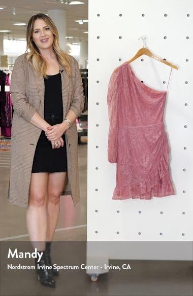 x BFF Jess One-Shoulder Lace Minidress, sales video thumbnail