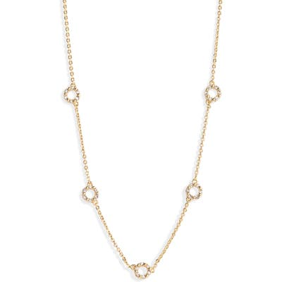 Nordstrom Dainty Circle Station Necklace