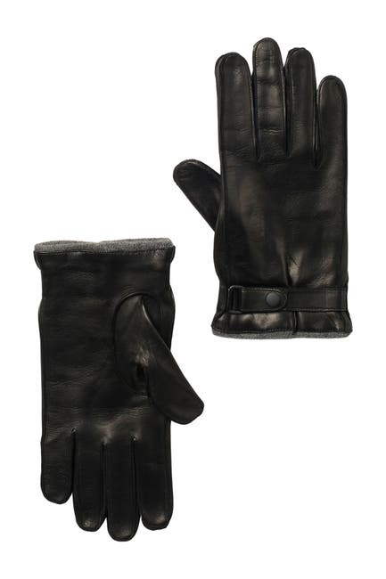 Image of Portolano Nappa Leather Belted Gloves