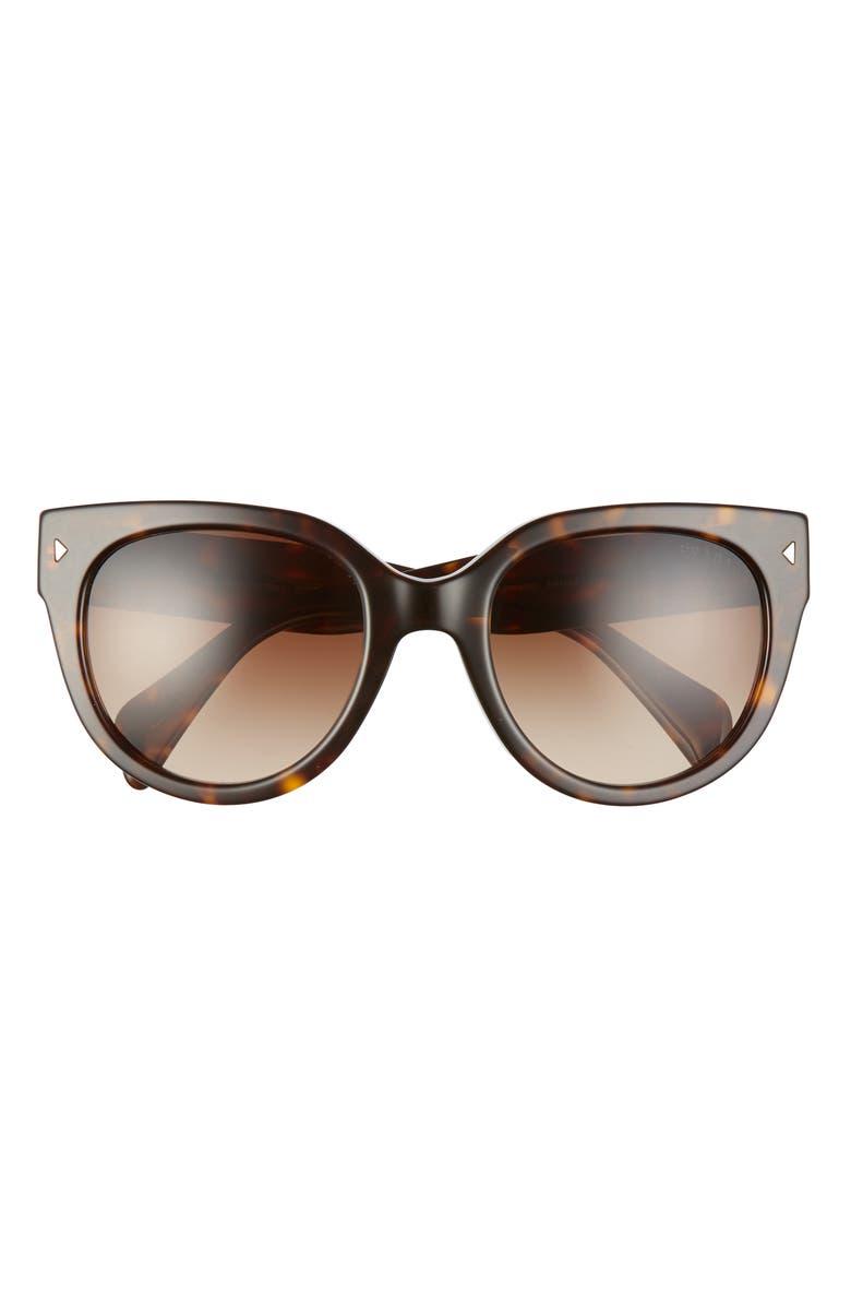 PRADA Phantos 54mm Gradient Cat Eye Sunglasses, Main, color, 203